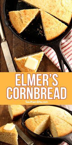 Buttermilk Cornbread, Sweet Cornbread, Cornbread Recipes, Southern Recipes, Southern Food, Southern Comfort, School Recipe, Iron Skillet Recipes, Biscuit Bread