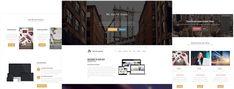 Wordpress Template, Wordpress Theme, Portfolio Website, First Page, News Online, Page Layout, Studio, Studios, Layout Design