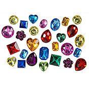 Assorted Color Shaped Gems