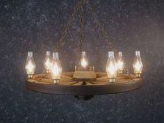 #Wagon wheel chandelier