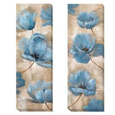Artistic Home Gallery 'A Summer Wind' by Nan 2 Piece Painting Print on Wrapped Canvas Set Abstract Flowers, Easy Paintings, Learn To Paint, Acrylic Art, Online Art Gallery, Flower Art, Painting Prints, Canvas Art, Wrapped Canvas