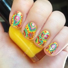 Paisley Nail Art with the Zoya Stunning and Irresistible Collections  OMG LOVE!