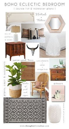 Thoughts from Alice: Boho Eclectic Bedroom: Source List & Makeover Plans
