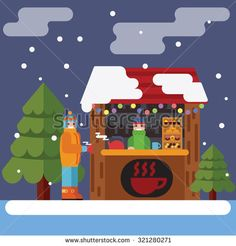 christmas markets vectors - Google Search Winter Breaks, Winter Walk, Christmas Markets, Vectors, Family Guy, Google Search, Fictional Characters, Art, Art Background