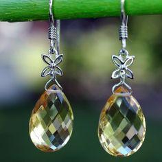 Citrine Earrings - Earrings - Women's Jewelry - Jewelry