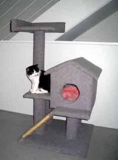 Do it yourself cat furniture plans woodworking projects for Do it yourself cat condo