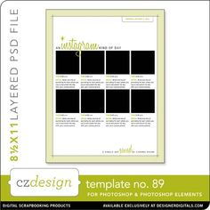 Cathy Zielske's Layered Template No. 089 - Digital Scrapbooking Templates