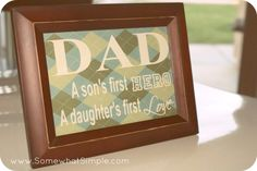 Fathers Day Frame - so darling!