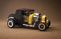 Ford Model A Coupe Hot Rod – Lego 75875 re-interpretation   by _Tiler