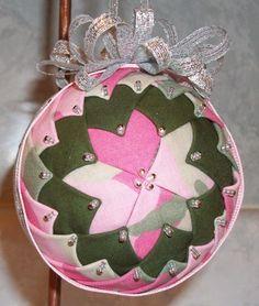 Camo for the girls! ~ Custom made fabric ornament