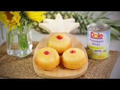 Learn more about Dole's recipe for Pineapple Upside Down Minis. Explore this recipe and more on the new Dole Sunshine site where fresh creations are never far away! Mini Desserts, Easy Desserts, Delicious Desserts, Yummy Food, Dole Pineapple, Pineapple Cake, Pineapple Recipes, Cake Mix Recipes, Dessert Recipes