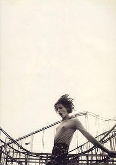 """80s-90s-supermodels: """"Atlantic Drift"""", Sky US, August 1996Photographer : Jan WeltersModel : Michele Hicks"""