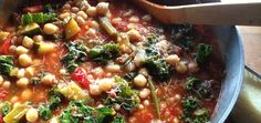 Minestrone is a thick vegetable/bean soup, usually with the addition of pasta. It has a long history dating back to pre-Roman days, and it used to be made primarily with leftovers by poor families