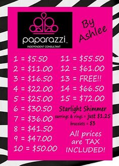 Paparazzi Jewelry Business Card Template | Paparazzi $5 Accessories by Ashlee: New Business Cards!!