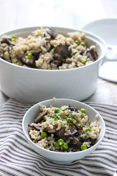 Slow cooker risotto