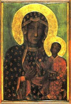 """The Black Madonna of Częstochowa. (Some claim the Black Madonna grew out of the Pre-Christian Earth goddess/mother tradition. (*Artemis of Ephesus, Cybele, Ishtar, Kali, Cailleach, Isis) Medieval clergymen asserted that since Luke portrayed the images as such, it must be the proper iconography. The Knights Templar are said to have imported many of the icons to Europe.) """"Light is matter, and DARKNESS pure Spirit.""""(H. P. Blavatsky, who wrote of the topic in The Gnostics and Their Remains)"""