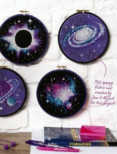 free cross stitch pattern: planets and galaxies