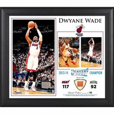 Dwyane Wade Miami Heat 2014 NBA Eastern Conference Champs 15'' x 17'' Collage with Team-Used Ball
