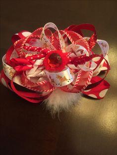 Rudolph hairbow 🎄🎀