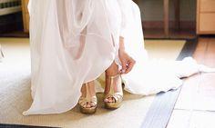 Segunda elección: color. Zapatos de novia