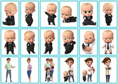 Risultati immagini per boss baby party Baby Boy Birthday Themes, Boss Birthday, Boy Birthday Parties, Baby Cupcake Toppers, Baby Movie, Baby Buddha, Baby Invitations, Boss Baby, Baby Party