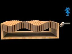 the up/down effect is what happens with a rocker turn.  curiously there is the shift horizontally - what is that?...Sea Effect Mechanical Wooden Toy 3D Model - YouTube