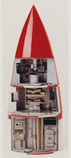 Inside Tintin's rocket