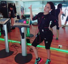 Stephanie Valenzuela and her exhausting ems workout with miha bodytec at Smart Fitness Lima | Peru.   C.C. Larcomar sótano Malecón de la Reserva 610 of. 403 , Miraflores +51 980 475 696  #mihabodytec #worldwide #lima #peru #valenzuela #ems #emstraining