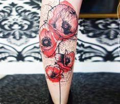 Red Flowers tattoo by Kofi Deuxmille