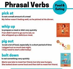 Phrasal verbs related to food