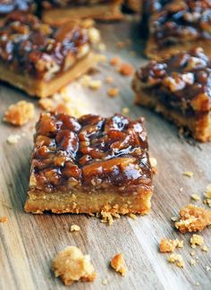 Pecan Pie Bars - so easy, sweet, and corn syrup free! // The Live-In Kitchen