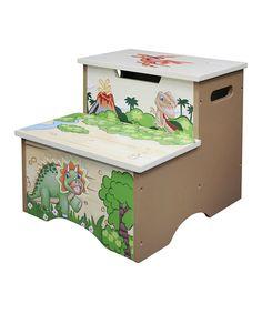 Love This Dinosaur Kingdom Storage Step Stool By Teamson Design On #zulily!  #zulilyfinds