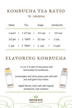 How to Flavor Kombucha with Raw Juice — Genesis Juice Kombucha Flavors, Kombucha Scoby, How To Brew Kombucha, Kombucha Recipe, Kombucha Benefits, Making Kombucha, Kombucha Brewing, Fermentation Recipes, Homebrew Recipes