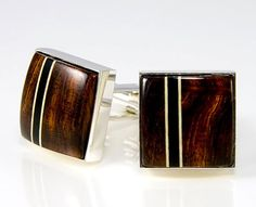 Sterling Silver Cuff Links Desert Ironwood Silver