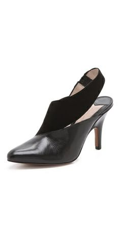 10 Crosby Derek Lam Vira Asymmetrical Pumps #Shoes #clothing