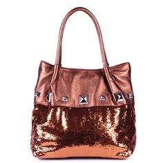 2c1a0f5f10 Schandra Rockstar Collection Sequin Tote Double Handle Handbag Unique  Handbags
