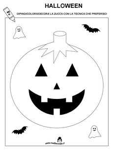 halloween schede didattiche - Cerca con Google Easy Halloween Crafts, Halloween Pictures, New Years Eve Party, Kindergarten, Blog, Mamma, Coloring, Seasons, Sport
