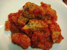 Estofado de cerdo con patatas – Spezzatino di maiale e patate italian food, italian recipes, cocina italiana, comida italiana