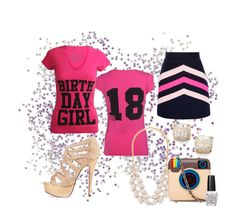 """""""Fun 18th birthday set!"""" by birthdaygirlworld ❤ liked on Polyvore featuring MSGM, Forever 21, MUA MUA, Kate Spade and OPI"""
