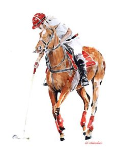 This print is from an Original painting by Eddie Kagimu MATERIALS: quality heavy-weight cotton mould printing paper The Print is signed by the Artist House Of Barbers, Narcos Poster, Polo Team, Men's Polo, Horse Braiding, Polo Horse, Watercolor Horse, Animal Sketches, Horse Love