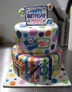 Fresh Beat Band Birthday Cake  *and that is how my daughter's name is spelled :-)