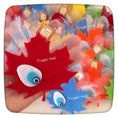 ♥ Tiryaki Hobi ♥: Keçe bebek şekeri / doğumgünü magneti - ÇINAR