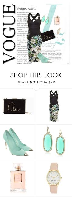 """My style"" by carolinabejar on Polyvore featuring Kate Spade, Ted Baker, Gianvito Rossi, Kendra Scott, Chanel y Nine West"