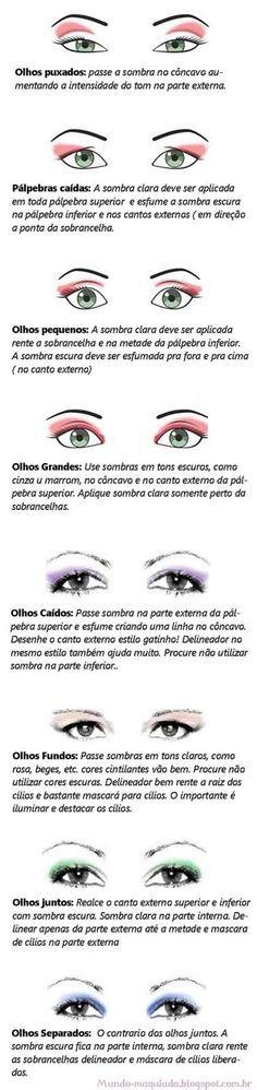 ❀❀ Mundo Maquiado ❀❀: Dica: Maquiagem para cada tipo de olho:
