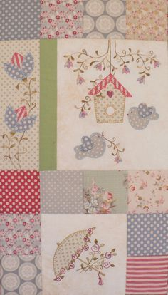 Forget-Me-Not Garden Block of the Month Pattern Set por Teddlywinks