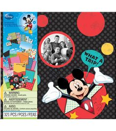 """Disney Vacation Scrapbook Kit 12""""X12""""- includes 321 pieces such as stickers and pages"""