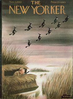 The New Yorker, November (Cover art: Witch-hunt at Halloween by Charles Addams) The New Yorker, New Yorker Covers, Halloween Pictures, Halloween Art, Holidays Halloween, Vintage Halloween, Happy Halloween, Halloween Witches, Halloween 2020