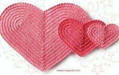 corações em crochê croche com receitas e gráficos