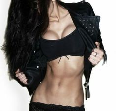 Her abs!!!