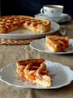 Food for thought: Πάστα φλώρα Greek Cookies, Cake Cookies, Greek Desserts, Greek Recipes, Cake Recipes, Dessert Recipes, Armenian Recipes, Fruit Jam, Coffee Cake